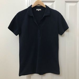 Etro fitted dark navy blue cotton polo shirt